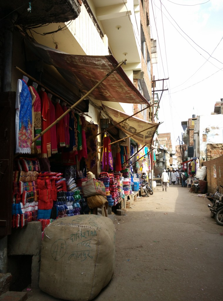 In Pech Bagh today, the first things that catch the eye are the readymade clothes stores. Credit: Jahnavi Sen
