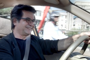 A still of Jafar Panahi from the film 'Taxi'. Credit: Flickreel