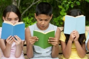 Kids in California with books