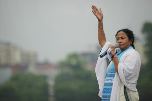Mamata Banerjee is hoping her Trinamool Congress can defeat the Left-Congress combine and the BJP in West Bengal. Credit: Reuters