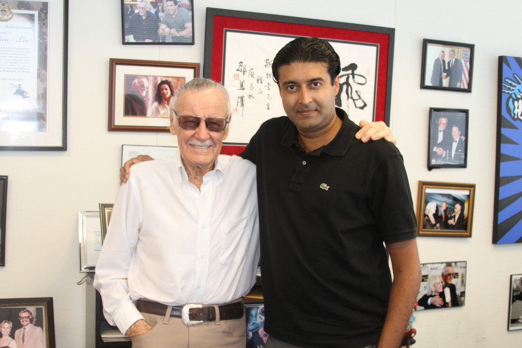 Graphic India co-founder and CEO Sharad Devarajan turned to the American comic book industry icon Stan Lee to create an Indian superhero that has caught the fancy of the East and West. Credit: Graphics India