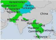 WUC map of Asia