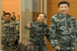 Xi Jinping, president of China and now also commander-in-chief of the Peoples Liberation Army. Credit: Screengrab/CCTV