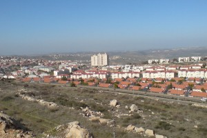 Ariel, one of Israel's largest settlements on the West Bank. Credit: Salonmor/ Wikimedia Commons