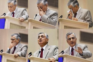 Chief Justice of India TS Thakur  during his speech at the joint conference of chief ministers and chief justices at Vigyan Bhavan in New Delhi on Sunday. Credit: PTI Photo by Shahbaz Khan