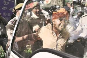 Police detain Hindu Sena members on Monday. Credit: PTI