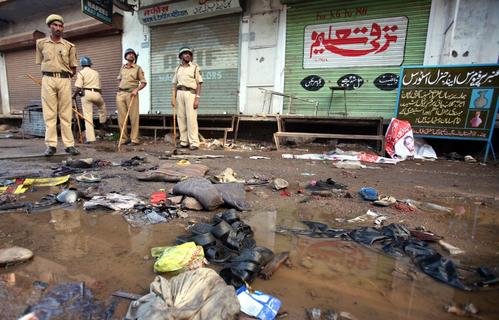 The aftermath of the Malegaon blasts. (Photo: Reuters)