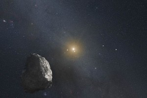 An artist's depiction of a Kuiper Belt Object. Credit: NASA