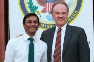 Xulhaz Mannan, pictured on the left, was murdered on April 25.