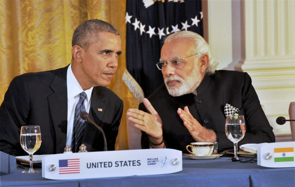 Prime Minister Narendra Modi at the dinner hosted by President Barack Obama, at the White House, in Washington last week. Credit: PTI