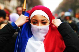 File photo of a Muslim girl in France