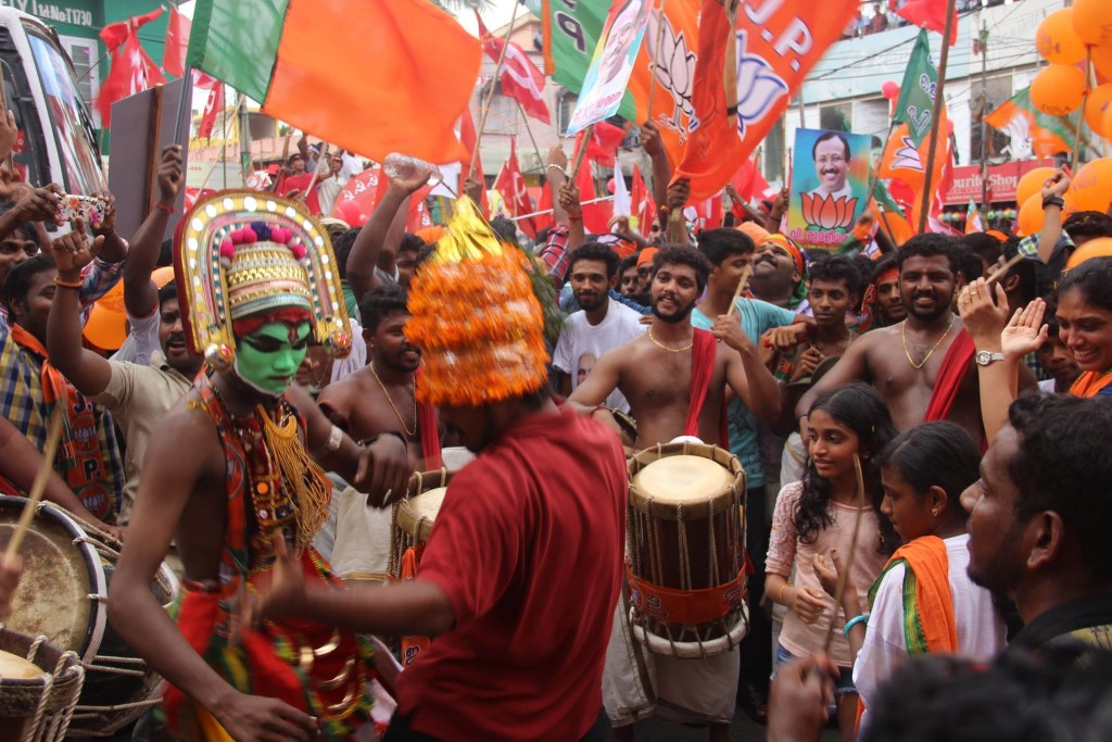 A BJP election rally in Kerala. Credit: BJP Keralam Facebook page