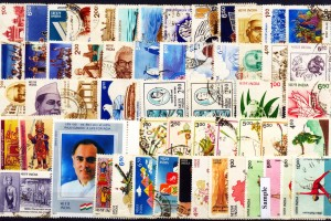 Indian postage stamps. Credit: StampexIndia