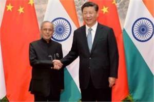Pranab Mukherjee and Chinese president Xi Jinping. Credit: PTI
