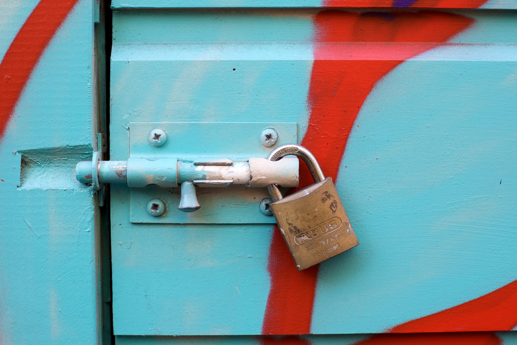 Locked and Patented: The new IPR policy seems like a gift to the US government. Credit: Jeremy Brooks, Flickr CC BY 2.0.