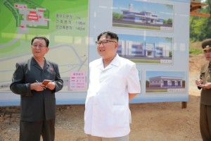 North Korean leader Kim Jong Un gives field guidance to the construction site of a medical oxygen factory in this undated photo released by North Korea's Korean Central News Agency (KCNA) on May 30, 2016. Credit: Reuters via Korean Central News Agency