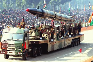An Indian Agni-II intermediate range ballistic missile on a road-mobile launcher, displayed at the Republic Day Parade on New Delhi's Rajpath, January 26, 2004. Credit: Wikimedia Commons