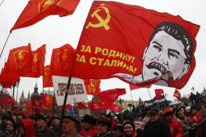Supporters of the Russian communist party attend a rally. Credit: Reuters
