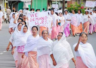 ILP Protest in Manipur. Credit: PTI/File Photo
