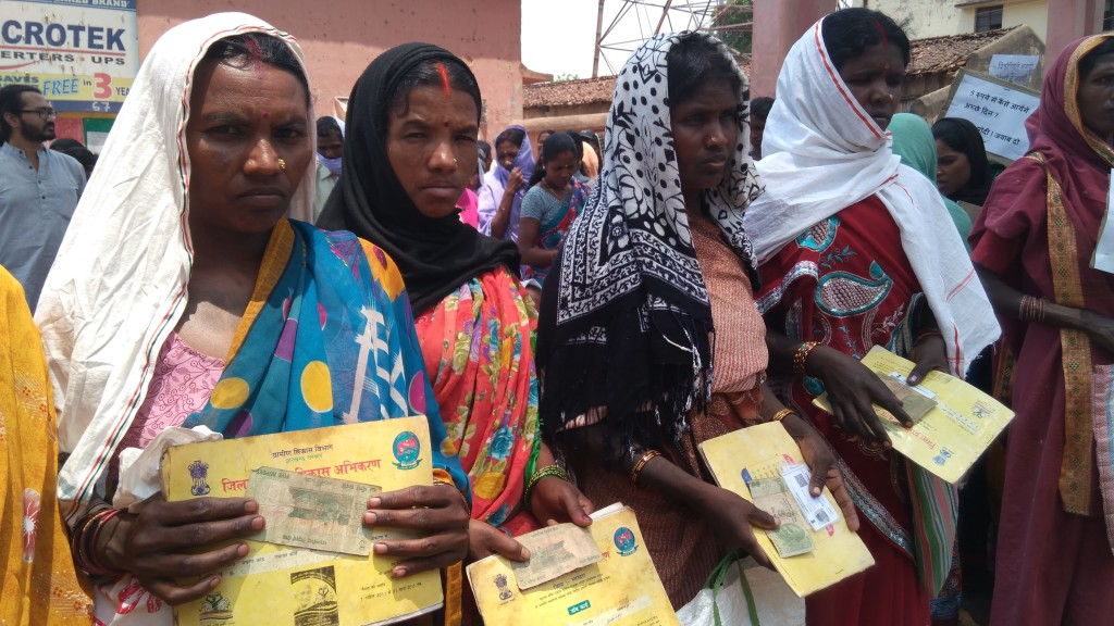 NREGA Workers Protest Low Wages by Returning Five Rupees to PM Modi