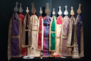 Items for the Majlis ceremony at Muharram, displayed at the exhibition.