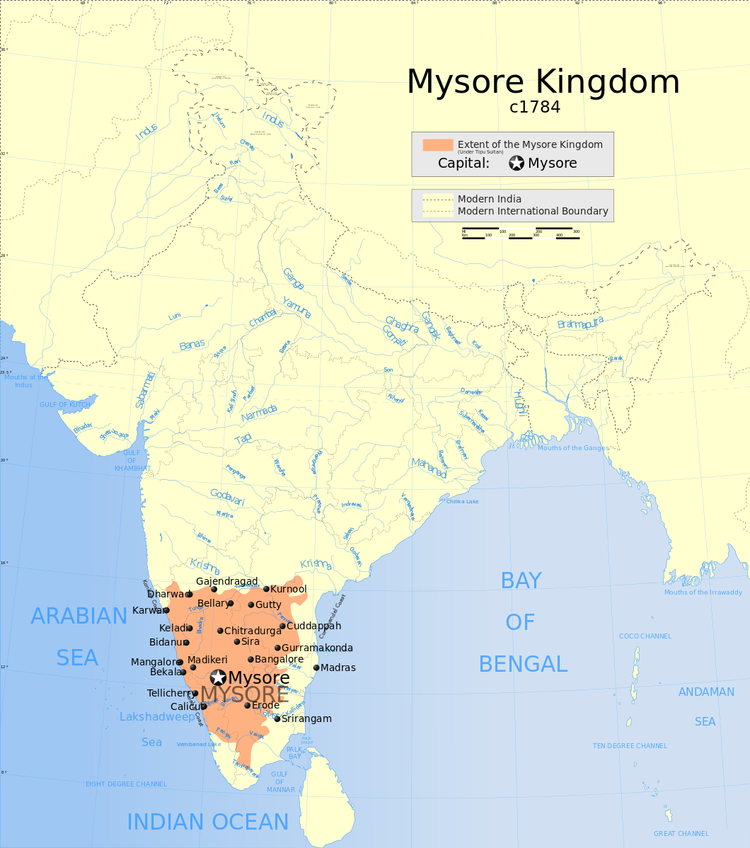 Indian Mysore Kingdom