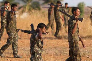 File photo of security forces patrolling in Maoist areas of Chhattisgarh. Credit: Reuters