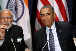 PM Modi's visit to the US next week may be crucial for a cyber deal. Credit: Larry Downing/Reuters/Files