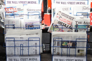 Newspaper stand in London. Credit: The Conversation/Yukiko Matsuoka, CC BY-SA