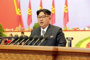 North Korean leader Kim Jong Un speaks during the first congress of the country's ruling Workers' Party in 36 years, in this photo released by North Korea's Korean Central News Agency (KCNA) in Pyongyang May 8, 2016. Credit: KCNA/via Reuters