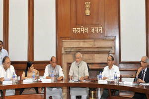 Prime Minister Modi chairing his first cabinet meeting. Credit: PTI/Files