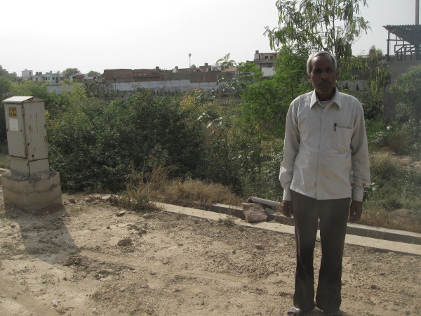 Radheshyam, at age 49, has been working in Agra for past two decades to support his family.