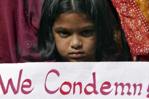 A file photo from a protest in India following the gangrape and murder of a 23-year-old woman in Delhi. Credit: REUTERS/Krishnendu Halder.