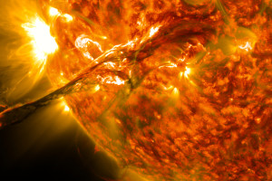 A solar flare observed on August 31, 2012. Credit: NASA