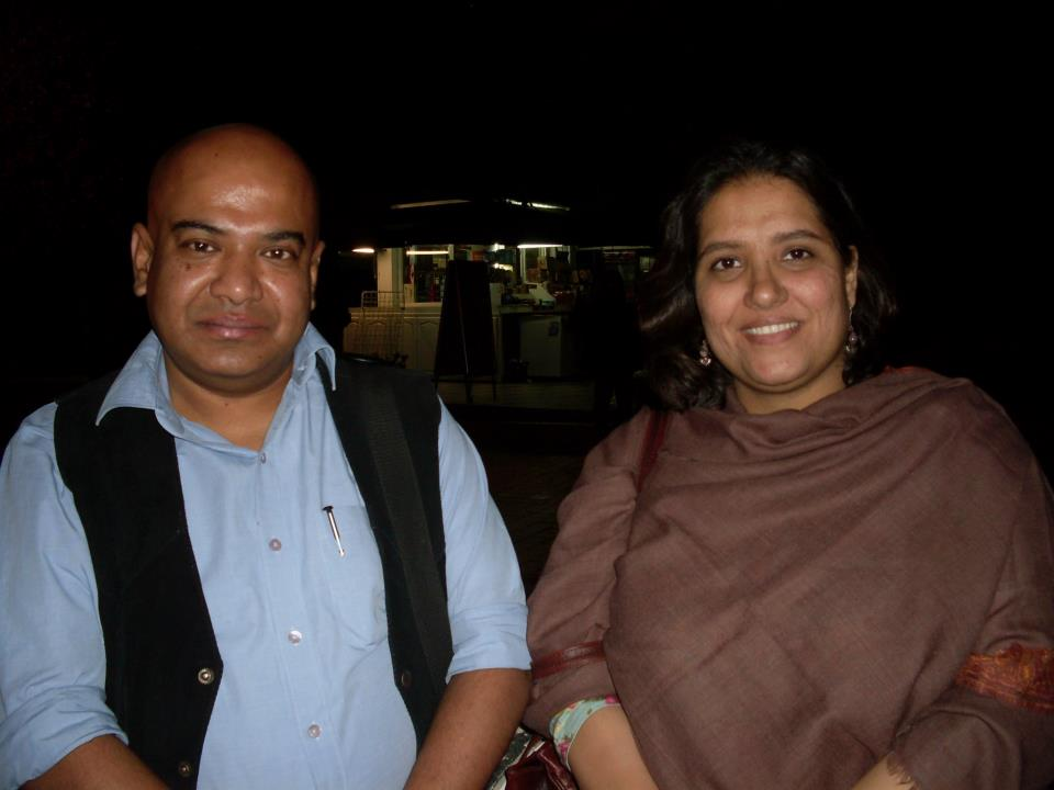Filmmakers Shubhradeep Chakravorty and Meera Chaudhary