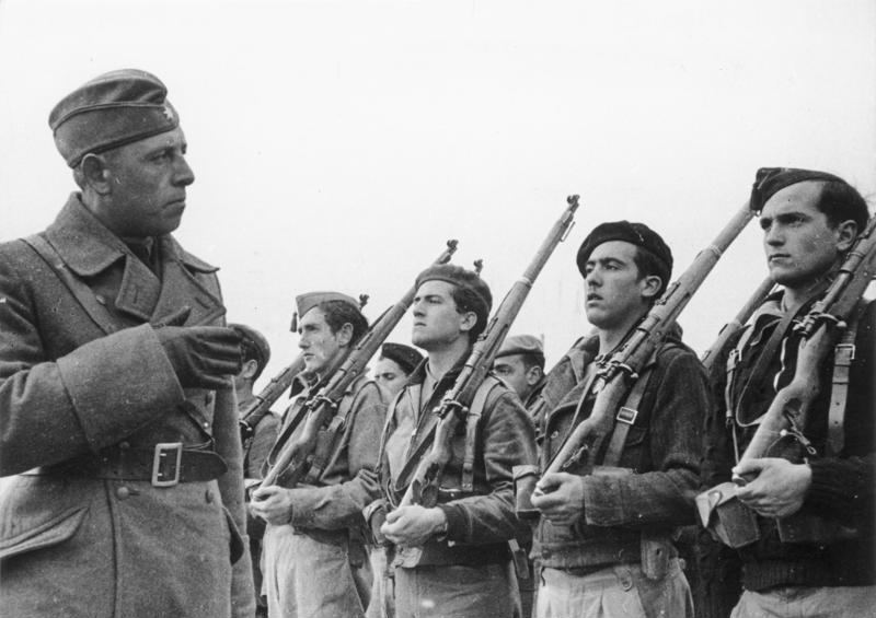 Members of the Condor Legion, a unit composed of volunteers from the German Air Force and from Army. Credit: Wikimedia Commons