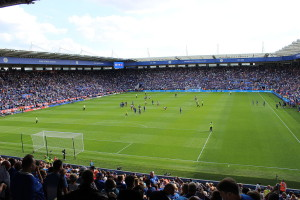 The King Power Stadium has been the Leicester City Football Club's home ground since 2002. Credit: Pioeb/Wikimedia Commons, CC BY-SA 4.0