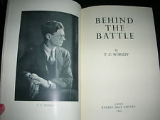 A first edition copy of T.C. Worsley's Behind the Battle. Credit: EBay