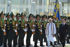 Prime Minister Narendra Modi in Turkmenistan during his tour of Central Asia in 2015. Credit: narendramodi.in