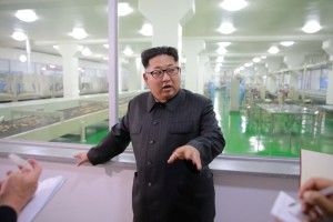North Korea leader Kim Jong Un visits the remodeled Pyongyang Cornstarch Factory in this undated photo released by North Korea's Korean Central News Agency (KCNA) on June 16, 2016. Credit: KCNA/ via Reuters