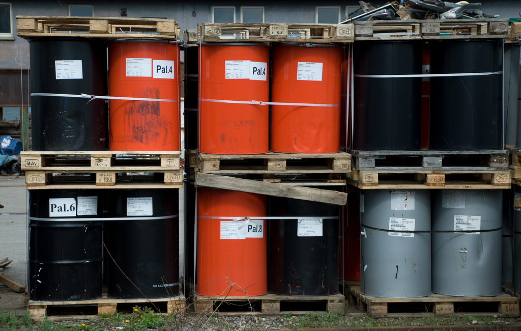 Drums of toxic waste. Credit: mobilestreetlife/Flickr, CC BY 2.0