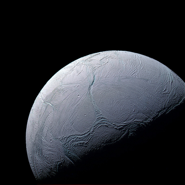 Enceladus. Credit: Justin Cowart/Flickr, CC BY 2.0
