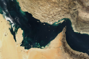 Satellite image of Iran and the Persian Gulf. Credit: NASA