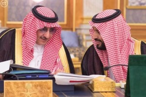 Saudi Crown Prince and Interior Minister Mohammed bin Nayef (L) and Saudi Arabia's Deputy Crown Prince Mohammed bin Salman attend a cabinet meeting in Jeddah, Saudi Arabia June 6, 2016. Credit: Saudi Press Agency/Handout via Reuters