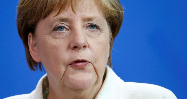 German Chancellor Angela Merkel attends a news conference after government consultations at the chancellery in Berlin, Germany, June 22. Credit: Reuters/Hannibal Hanschke