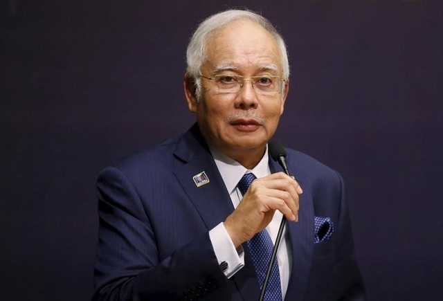 Malaysia's Prime Minister Najib Razak speaks at the opening of the International Conference on Deradicalisation and Countering Violent Extremism in Kuala Lumpur, Malaysia, January 25, 2016. Credit:Reuters/Olivia Harris/Files
