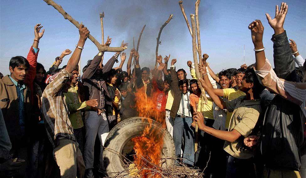 A scene from the Jat agitations in Haryana. Credit: PTI