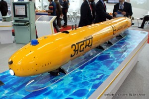 L&T''s 'ADAMYA' autonomous underwater vehicle, designed and developed in house by L&T Designed for deoployment from torpedo tube of submarines. Credit: LivefistDefence.com