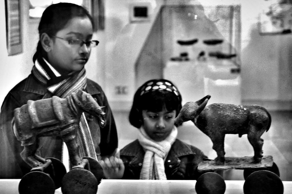 Mohenjo Daro artifacts in the National Museum, New Delhi. Credit: Shome Basu