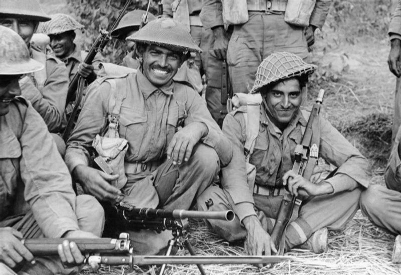Indian troops in Burma during World War II. Credit: Wikipedia
